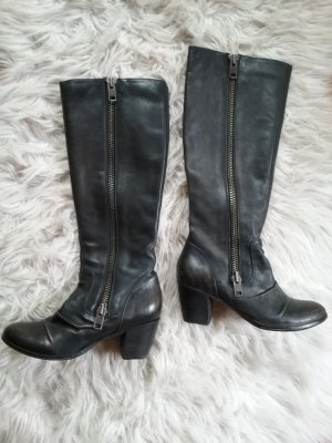 Asos Laarzen met hak zwart-donkerbruin