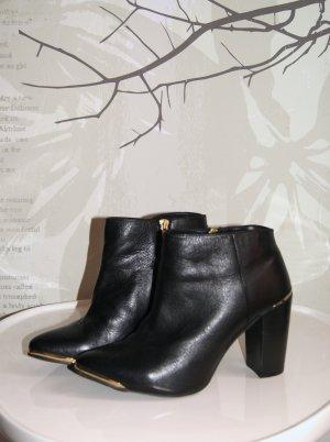 Asos Stiefeletten, Ankle-Boots, Leder, schwarz, Gr. 40 (UK 7)