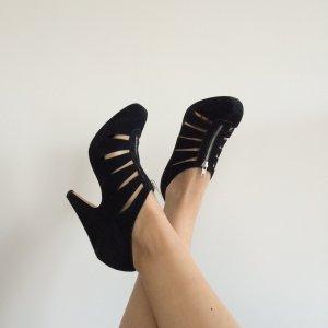 ASOS Stiefeletten High Heels cut out mit Plateau sexy schwarz