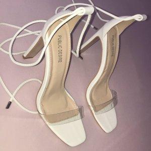 Public Desire Escarpins à lacets blanc-beige