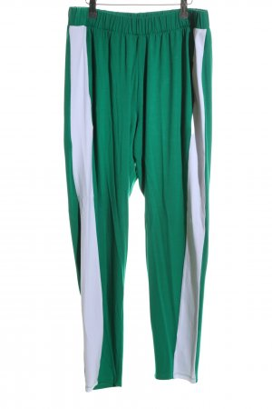 Asos Stoffhose grün-weiß Casual-Look