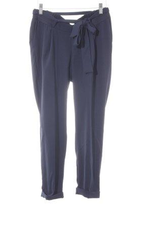 Asos Stoffen broek donkerblauw simpele stijl