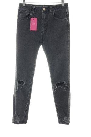 Asos Straight-Leg Jeans dunkelgrau Casual-Look