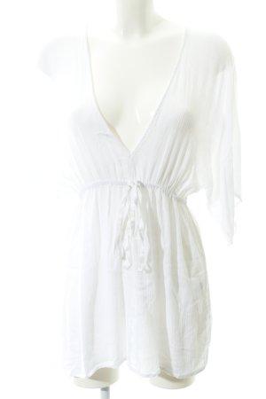 Asos Vestito da spiaggia bianco motivo a righe stile spiaggia