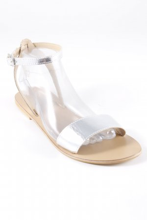 Asos Beach Sandals silver-colored-beige shimmery