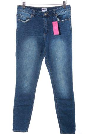 Asos Stretch Jeans stahlblau-dunkelblau Casual-Look