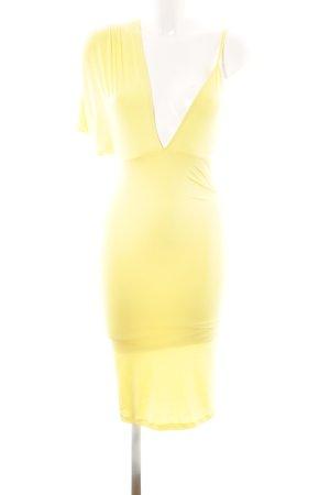 Asos Stretchkleid gelb Elegant