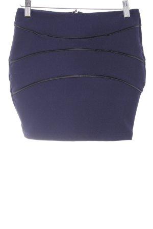 Asos Stretchrock dunkelblau-schwarz Elegant