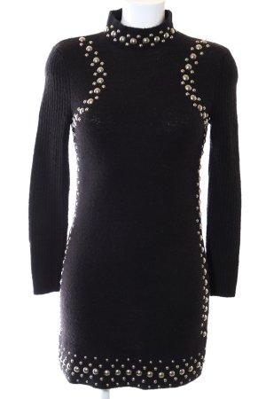 Asos Gebreide jurk zwart-goud casual uitstraling