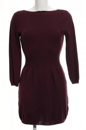 Asos Knitted Dress blackberry-red-brown violet casual look