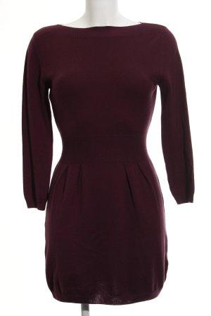 Asos Robe en maille tricotées rouge mûre-brun pourpre style décontracté