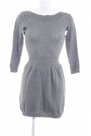 Asos Knitted Dress grey-light grey flecked casual look