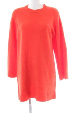 Asos Knitted Dress neon orange fluffy