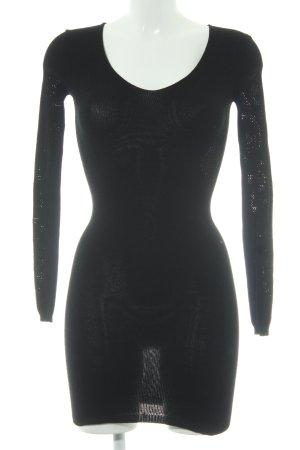 Asos Robe en maille tricotées noir motif tricoté lâche style décontracté