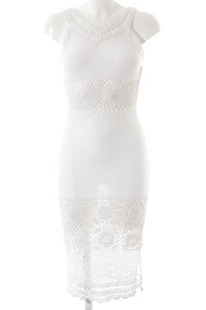 Asos Robe en maille tricotées blanc cassé style Boho