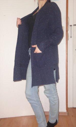 Asos Abrigo de punto azul oscuro-azul