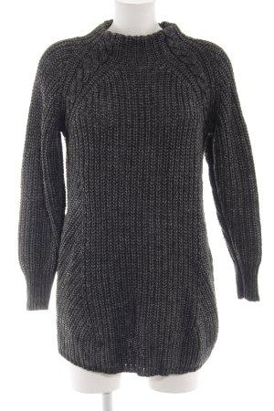 Asos Maglione lavorato a maglia grigio chiaro punto treccia stile casual