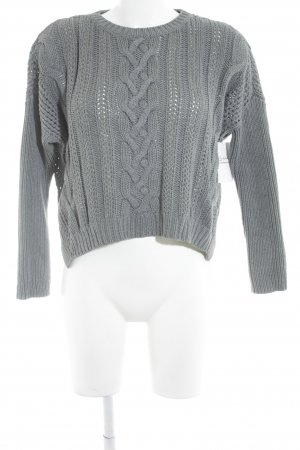 Asos Knitted Sweater grey cable stitch casual look