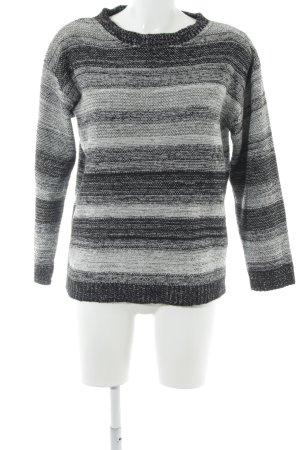 Asos Strickpullover schwarz-grau meliert Casual-Look