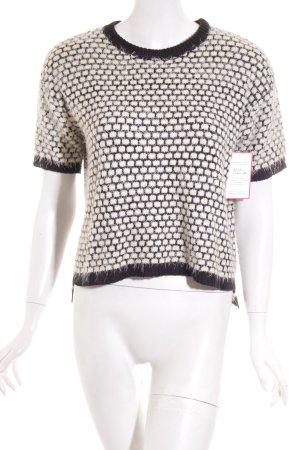 Asos Strickpullover schwarz-weiß Casual-Look