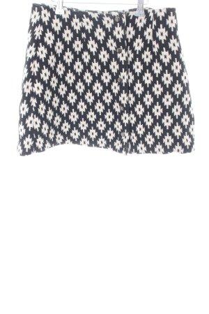 Asos Gonna lavorata a maglia nero-bianco sporco stampa integrale elegante