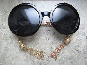 Asos Occhiale da sole rotondo nero-oro