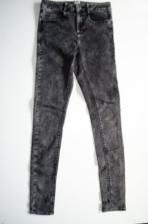 ASOS Super Skinny Stretch Jeans, dezenter Black Acid Wash Gr. 36 / US 4, UK 8