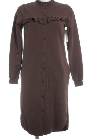 Asos Vestido de tela de sudadera coñac-marrón claro look casual