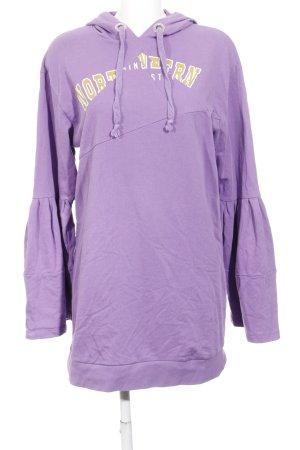 Asos Vestido de tela de sudadera lila letras impresas estilo College