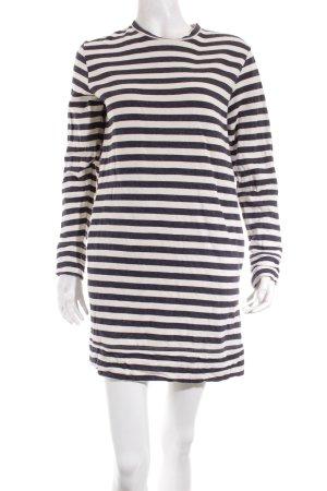 Asos Sweatkleid graublau-wollweiß Streifenmuster Casual-Look