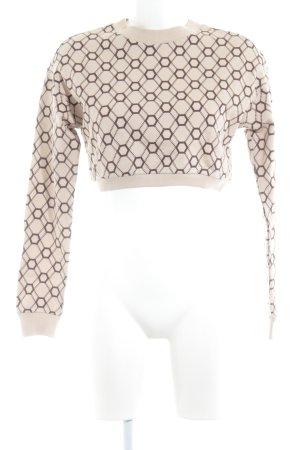 Asos Sweatshirt stoffig roze-donkerbruin volledige print casual uitstraling