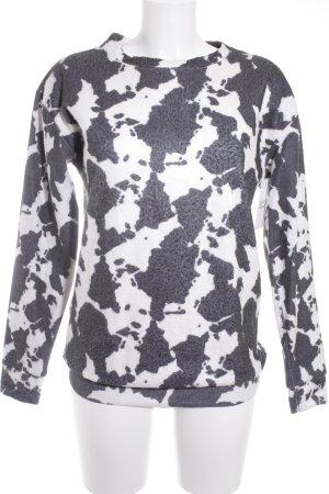 Asos Sweatshirt weiß-grau Animalmuster extravaganter Stil