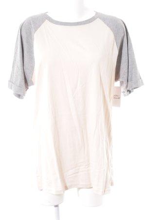 Asos T-Shirt nude-grau sportlicher Stil