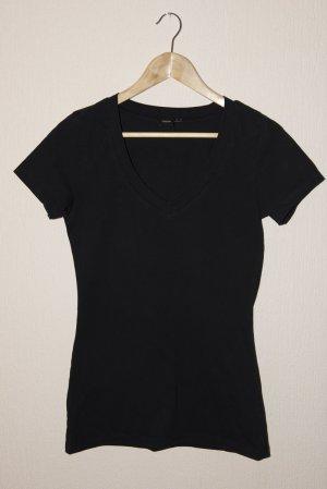 Asos T-Shirt, v ausschnitt, schwarz, GR 36