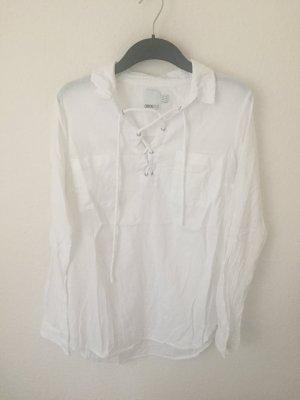 Asos Tall Hemd mit Schnürung Weiß
