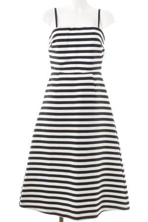 Asos Tall Midi Dress black-white striped pattern elegant