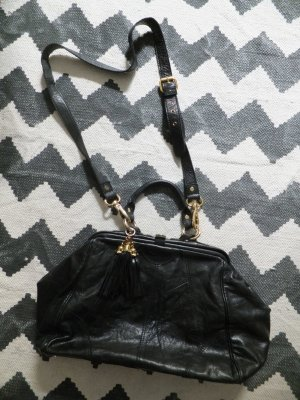 Asos Carry Bag black-gold-colored leather