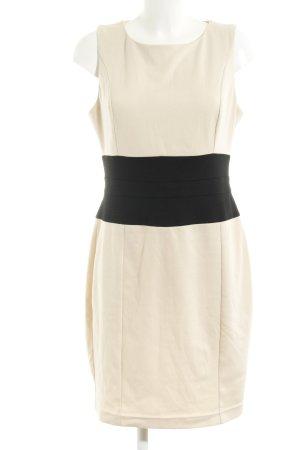 Asos Trägerkleid creme-schwarz Elegant