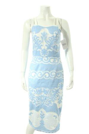 Asos Trägerkleid weiß-kornblumenblau abstraktes Muster Street-Fashion-Look