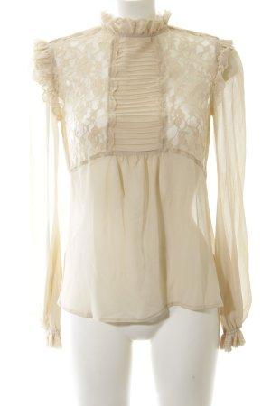 Asos Transparenz-Bluse wollweiß Elegant