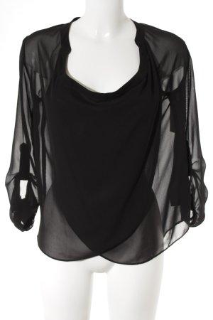 Asos Transparenz-Bluse schwarz Elegant