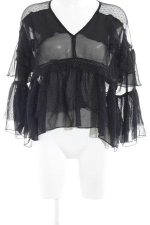 Asos Blouse transparente noir motif de tache élégant