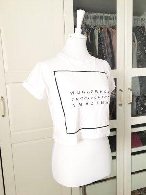 Asos T-shirt wit-zwart