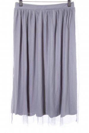Asos Falda de tul gris claro-lila grisáceo look casual
