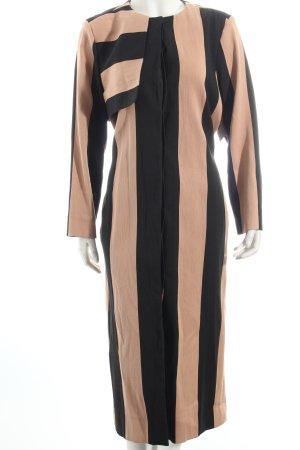 Asos Übergangsmantel schwarz-nude Streifenmuster Street-Fashion-Look