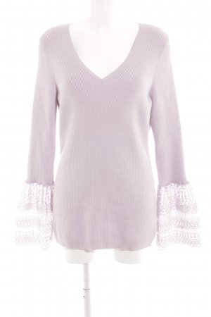 Asos V-Neck Sweater mauve casual look