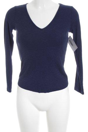 Asos V-Ausschnitt-Pullover dunkelblau Casual-Look