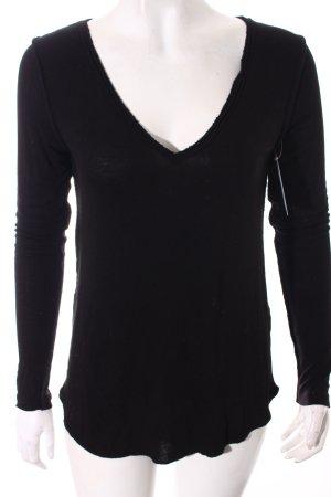 Asos V-Ausschnitt-Shirt schwarz Casual-Look