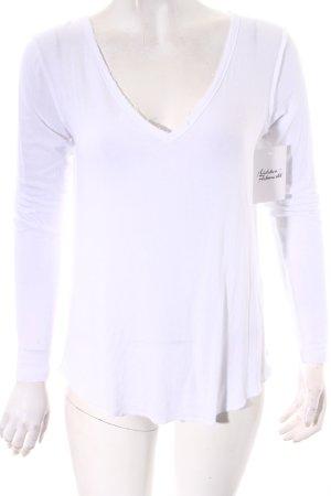 Asos V-Ausschnitt-Shirt weiß Casual-Look