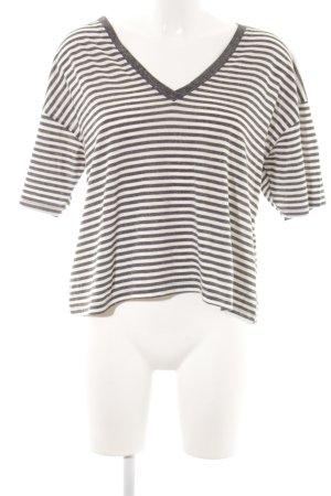 Asos T-shirt col en V blanc-gris moucheté style boyfriend